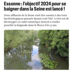 Essonne : l'objectif 2024 pour se baigner dans la Seine est lancé !