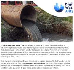IoTsens concluye el desarrollo de los sensores prototipo del proyecto Digital Water City sobre digitalización y gestión integrada del agua